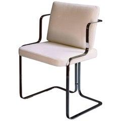 Marta Sala Editions S2 Murena Chair No Armrests Polished Steel, COM