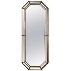 Tall Italian Venetian Giltwood and Ormolu Wall Mirror, 20th Century