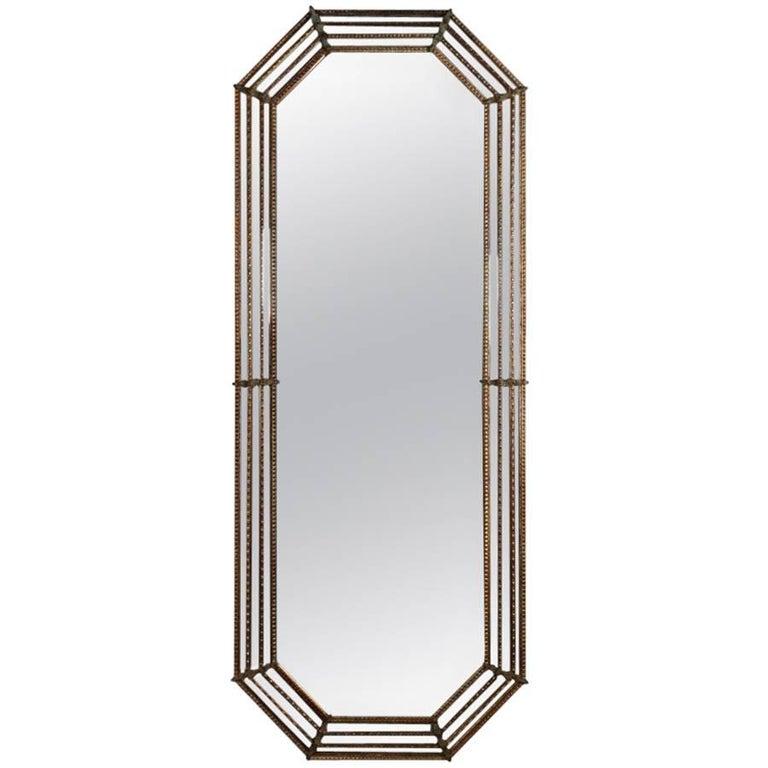Tall Italian Venetian Giltwood and Ormolu Wall Mirror, 20th Century