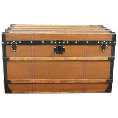 1900s, Louis Vuitton Steamer Trunk in Brown Canvas