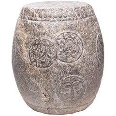 Chinese Charm Stone Drum