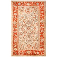 Large Ivory Antique Ziegler Sultanabad Persian Rug