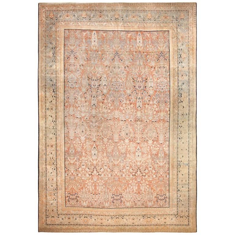 Oversized Antique Tabriz Haji Jalili Persian Rug