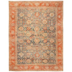 Blue Background Antique Sultanabad Persian Rug