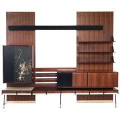 Bookcase in the Style of Gio Ponti, Italy, 1950s