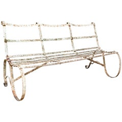 Early 19th Century Wrought Iron Garden Bench