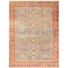 Large Blue Antique Sultanabad Persian Rug