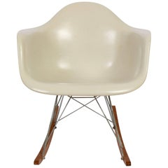 Charles & Ray Eames for Herman Miller RAR Cream Rocking Chair, 1963