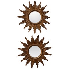 Pair of 19th Century Italian Sunburst Mirrors