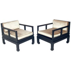 Low Slung Asian Style Lounge Chairs