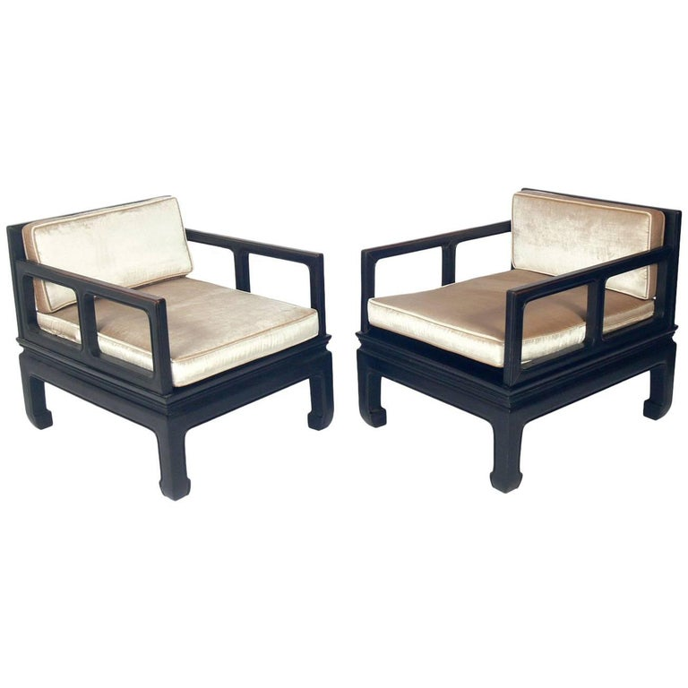 Low Slung Asian Style Lounge Chairs For