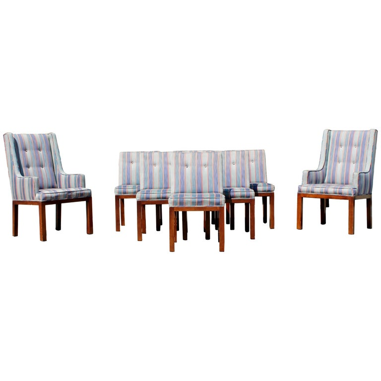 Mid Century Modern Dale Ford For John Widdicomb Set Of Eight Dining Chairs