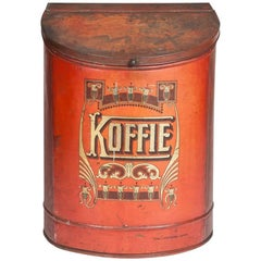 Painted and Gilded Tin Coffee Container