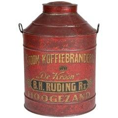 "Dutch ""De Kroon"" Coffee Container"
