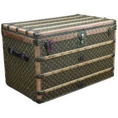 1910s Louis Vuitton Stencil Monogram Trunk