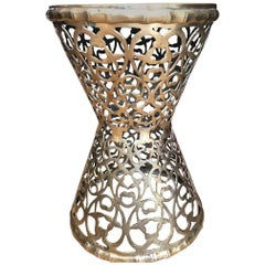 Moroccan Pierced Brass End or Side Table