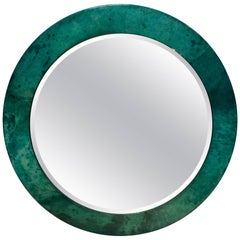 Aldo Tura Lacquered Goatskin Mirror