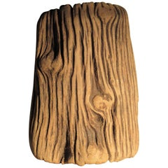 Old Gnarly Tree Trunk Natural Organic Modern Sculpture