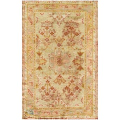 Incredible Antique Oushak Rug