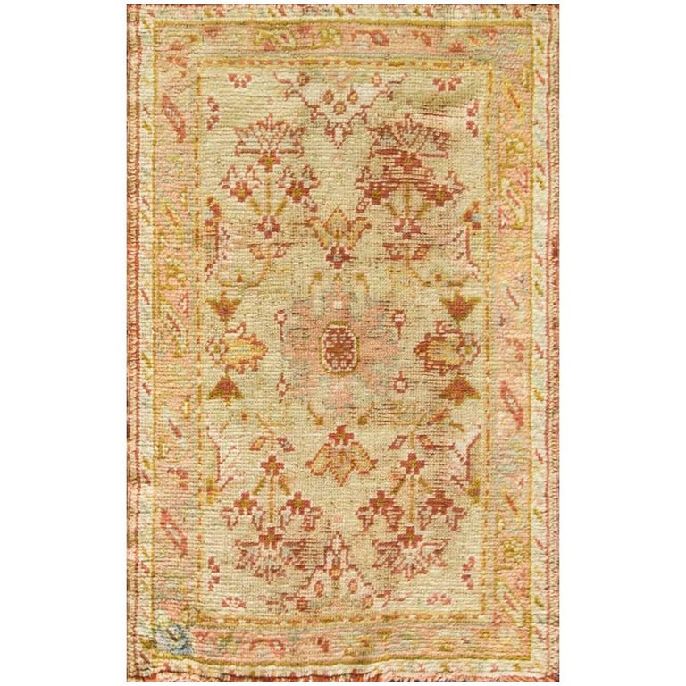 Incredible Antique Oushak Rug For Sale