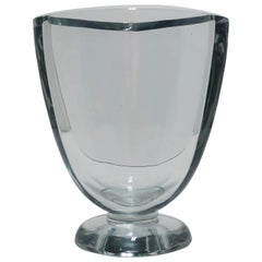 Scandinavian Modern Crystal Glass Vase