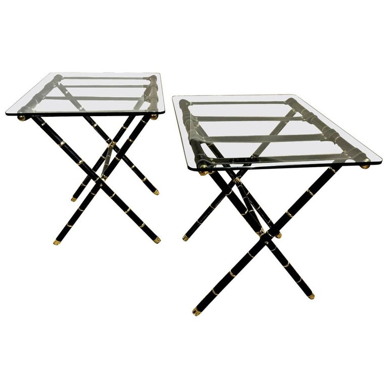 Jacques Adnet Style Side Tables