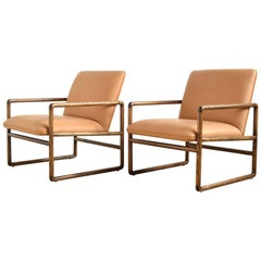 Ward Bennett Pair of Lounge Chairs by Brickel