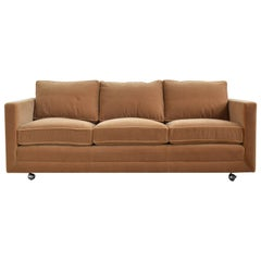 Ward Bennett Camel Mohair Sofa by Brickel
