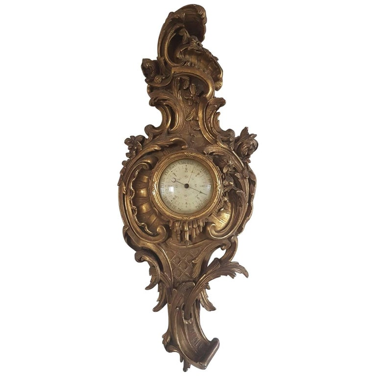 Rococo style hanging barometer complimentary shipping at
