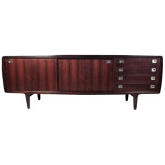 Scandinavian Modern Rosewood Sideboard by H.P. Hansen