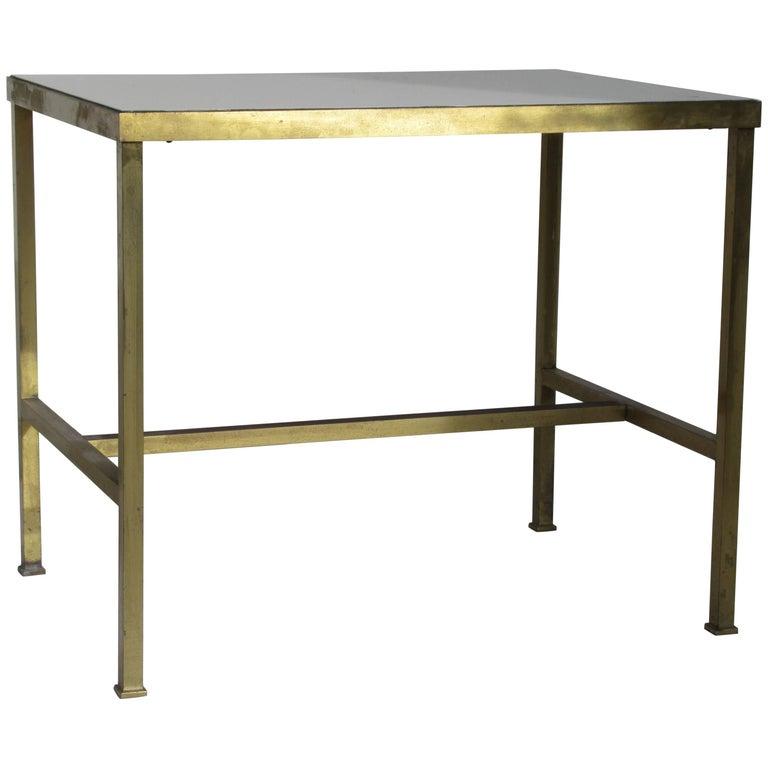 Brass and Vitrolite Table