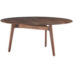 Neri & Hu for De La Espada Round Solo Dining Table, Walnut