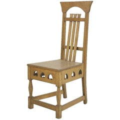 Shapland and Petter Arts & Crafts Oak Chair in the Style of M H Baillie Scott