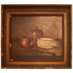 19th Century Gilt Framed French Still Life Painting