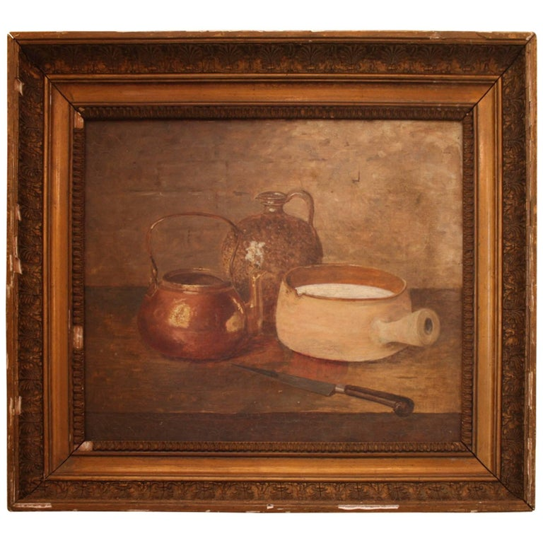 19th Century Gilt Framed French Still Life Painting