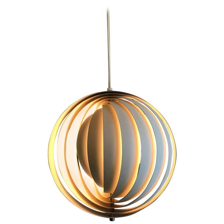 "Verner Panton ""Moon"" Pendant Lamp, Louis Poulsen, Denmark, 1960 For Sale"