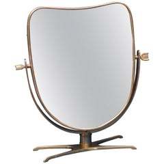 Italian Brass Vanity or Tabletop Mirror