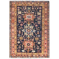 Incredible Persian Heriz Oriental Rug, Great Colors