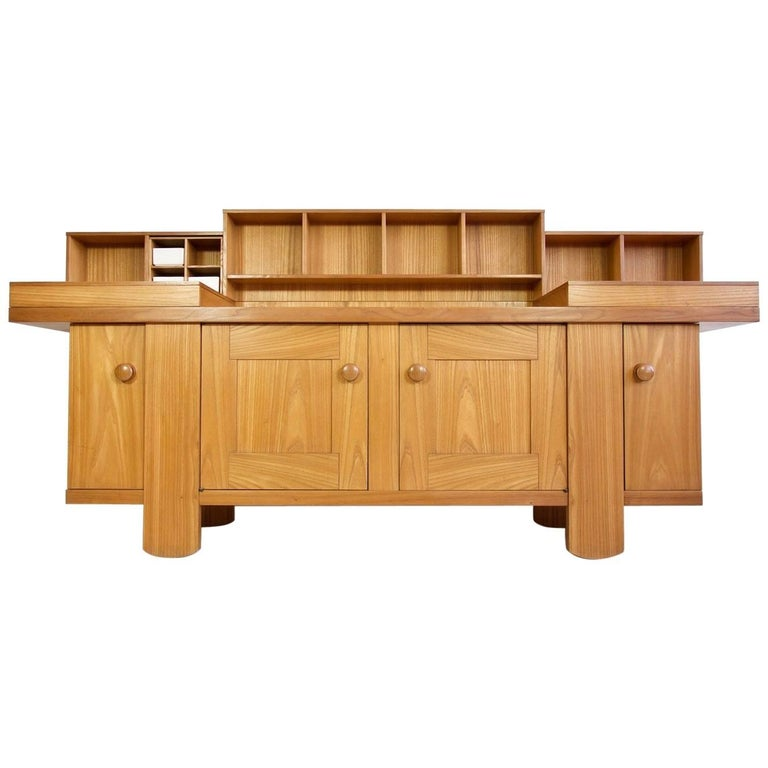 Silvio Coppola Oak Buffet Cabinet by Bernini, Italy