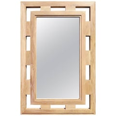 Madre Mirror in White Oak Haskell Studio Collection