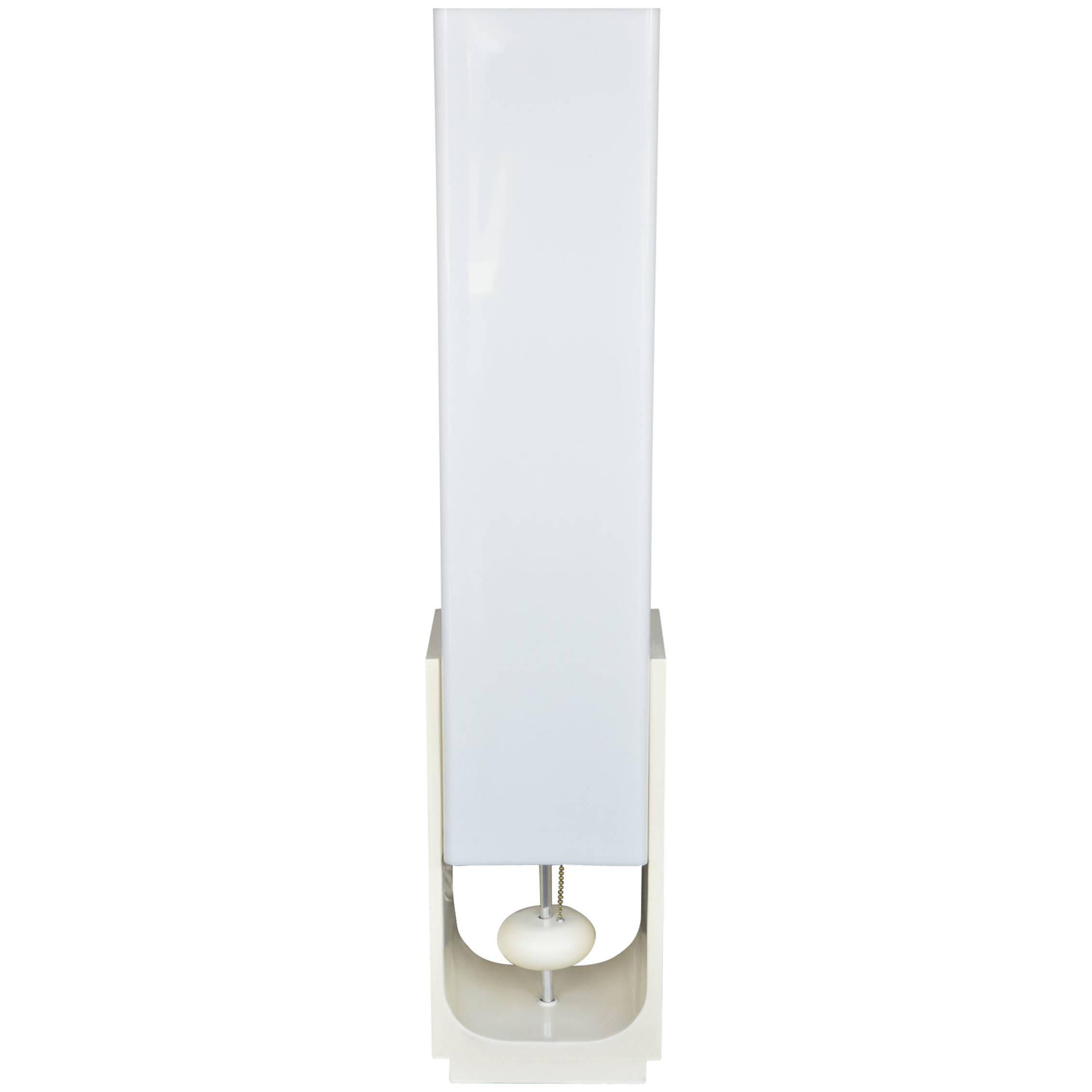 Italian Lucite Table Lamp