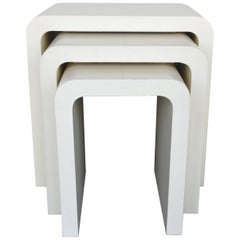 Set of Three Crème Nesting Tables