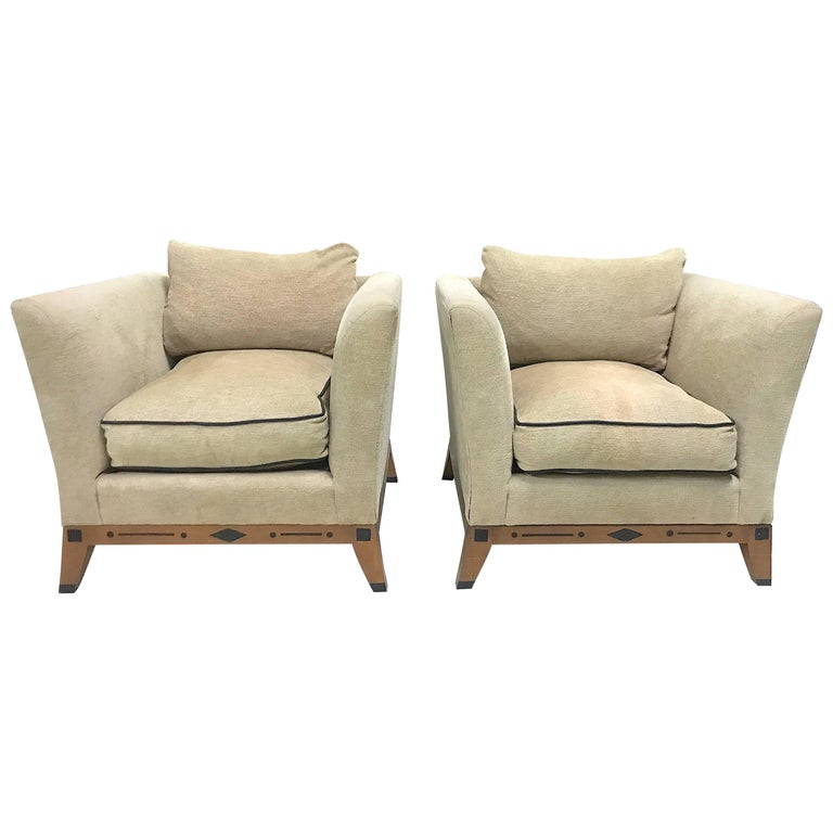 Chenille Skirted Sofa: Ronn Jaffe's 'Beidermeier Style Contemporary Lounge Chairs