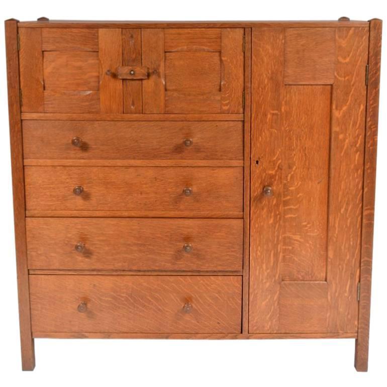 Ambrose Heal Letchworth Oak Compactum Nursery Chest of Drawers
