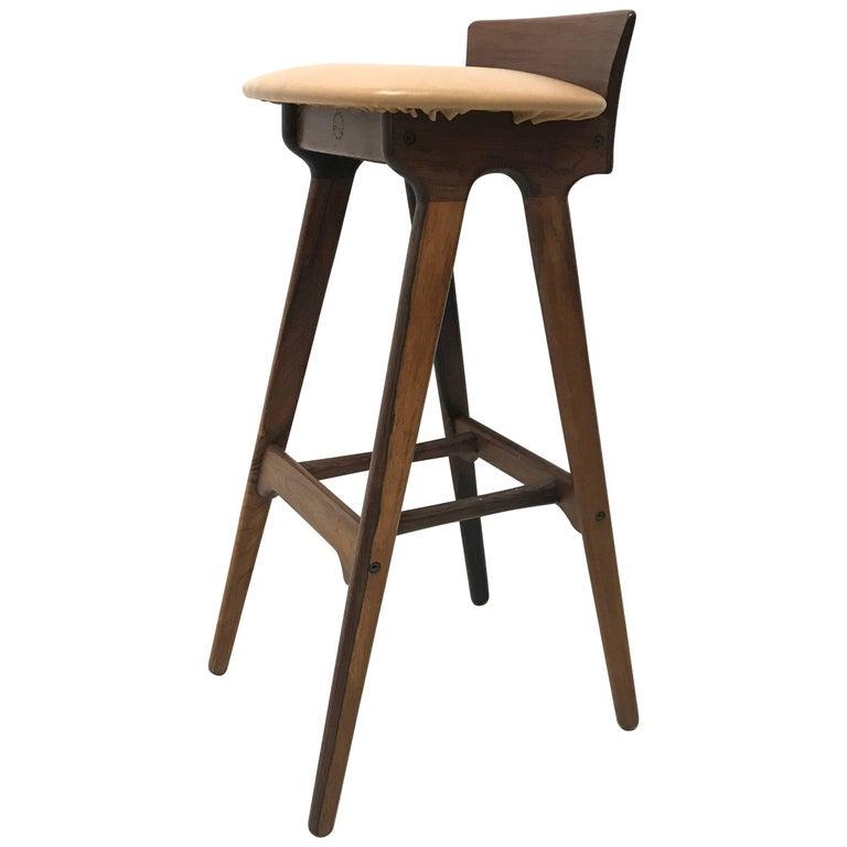 Erik Buck Chr. Christensens Mobelfabrik I/S Vamdrup Design Rosewood Bar Stool For Sale