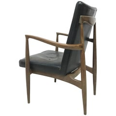 Finn Juhl Attributed, Scandinavian Teak Armchair with a Sculptural Design