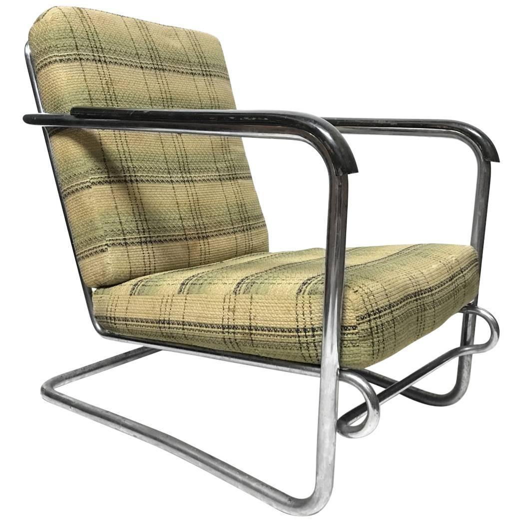 Thonet 1930s Cantilever Armchair in the Style of Erich Dieckmann, Gilbert Rhode