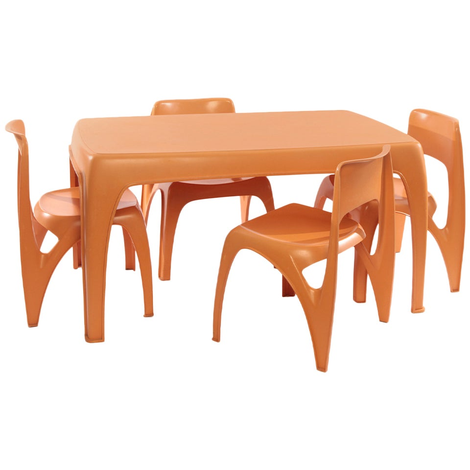 Rare Preben and Fabricius Table and Chairs
