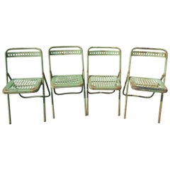 Set of Four Chairs of the Public Gardens of Toulouse, circa 1930