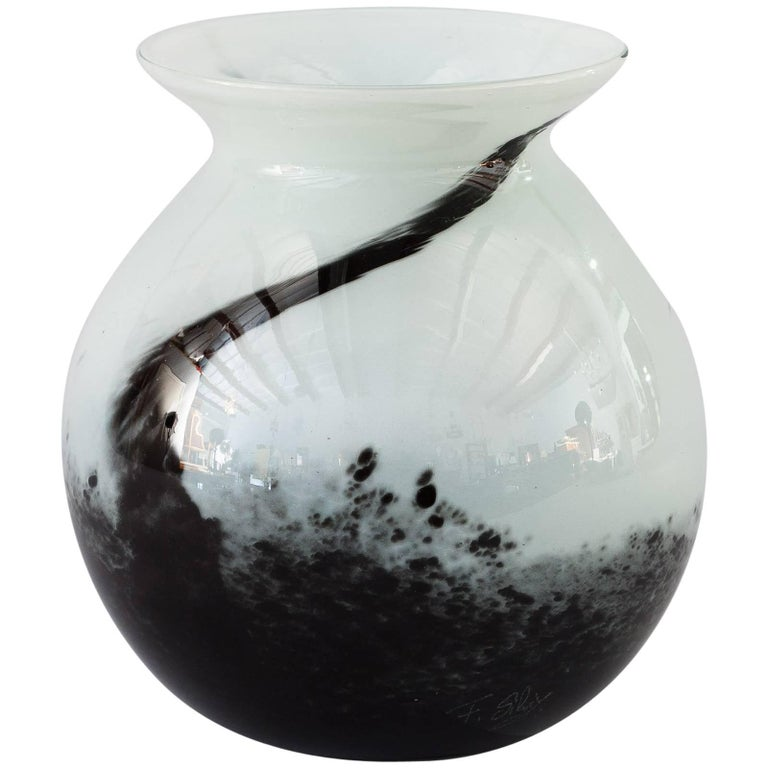 Contemporary French Handblown Glass Vase